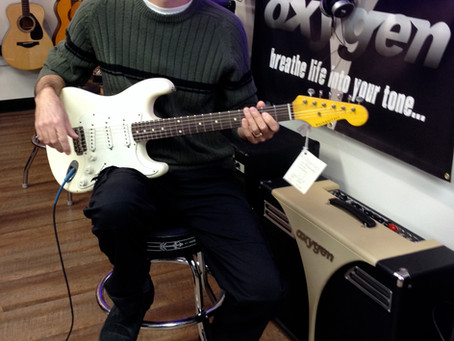 Roger Salloum Westcoast Guitars Instructor with his new 1963 Nashguitar