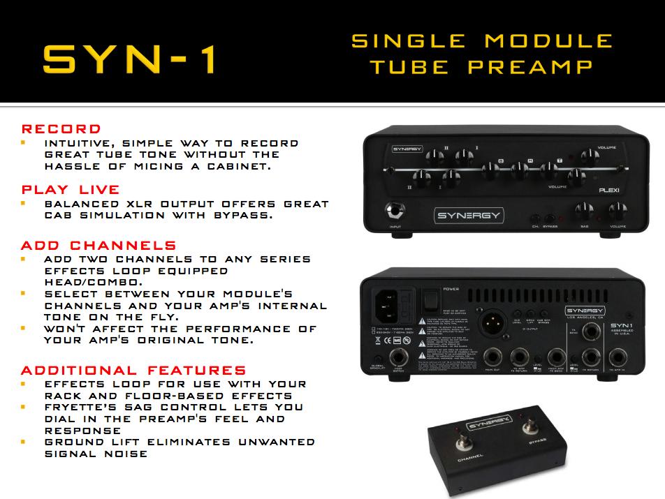 Synergy Syn-1 Single Module Tube Preamp