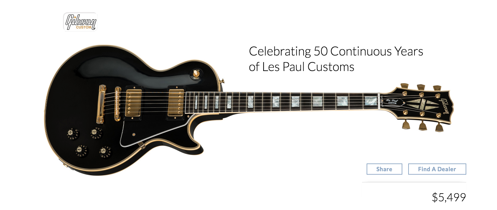 1968 Les Paul Custom 50th