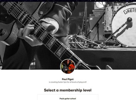 Paul Pigat Guitar School On Patreon $10 Per Month