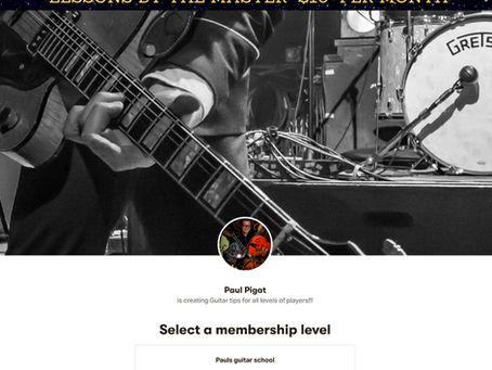 Paul Pigat Guitar School On Patreon $10 Per Month