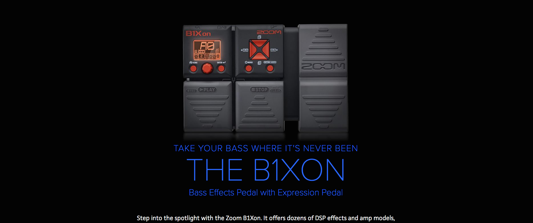 Zoom B1XON Bass Effects