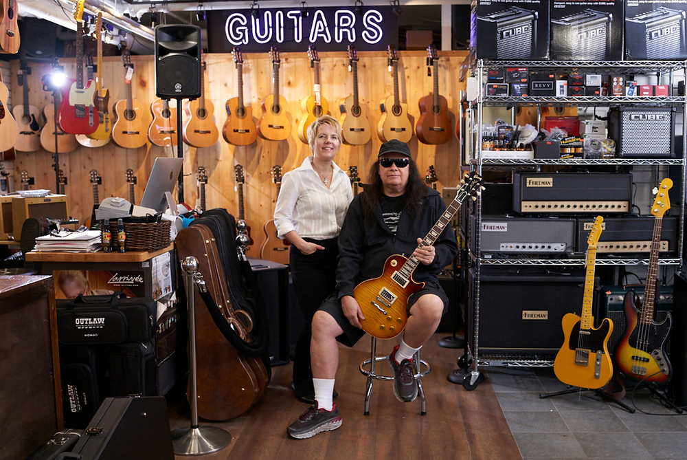 Voted number one guitar store in Canada