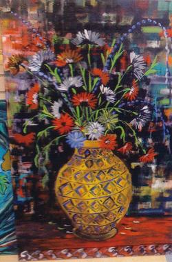 "Jozsef Burge "" Gold Vase """