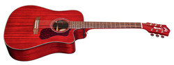 Westerly D-120CE Cherry Red