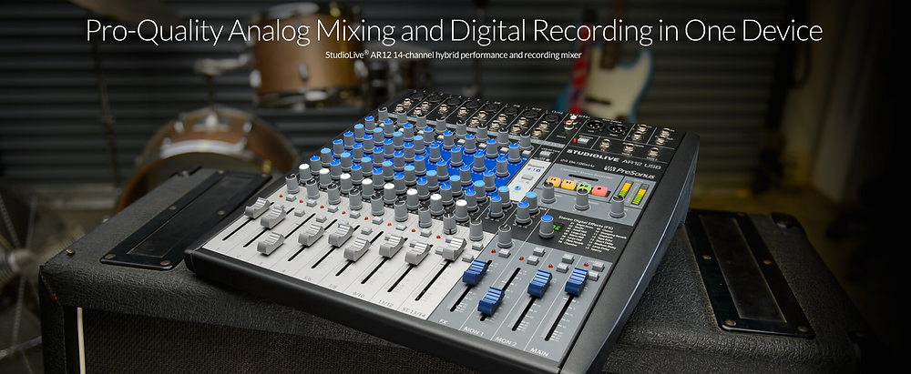 Presonus, StudioLive, AR12, hybrid, recording, and, performance, mixer,