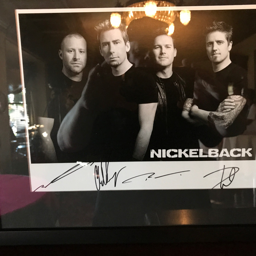 Nickleback Signed Memorabilia