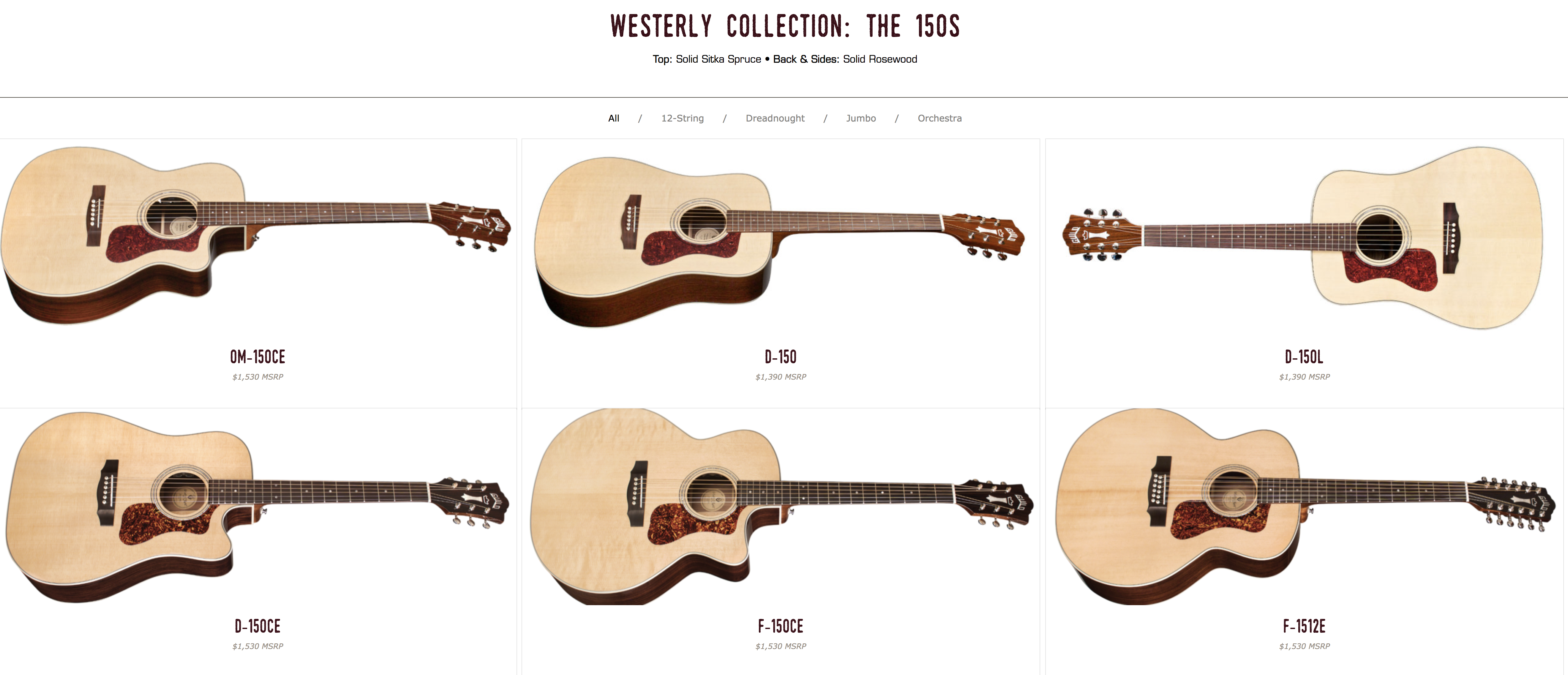 Guild Westerly The 150's