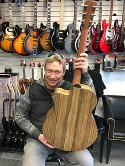 Ed Bond Latest Halcyon OM at Westcoast Guitars 2