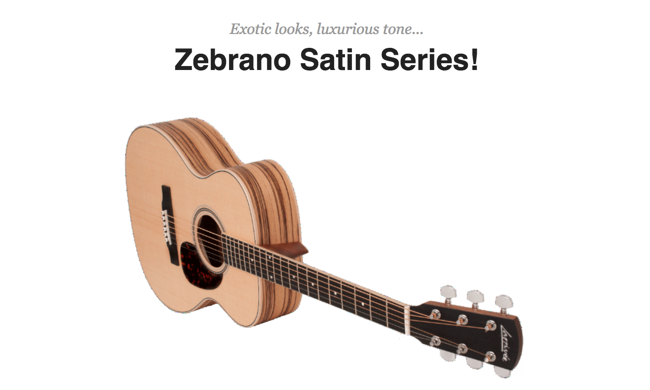 Larrivee Zebrano Satin Guitars Dealer Canada