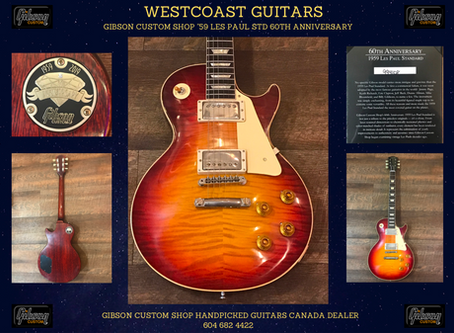 Gibson Custom Shop 60th Anniversary '59 Les Paul Standard handpicked by Westcoast Guitars Canada
