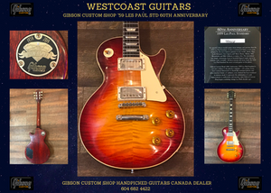 Canada, dealer, Gibson, Custom, Shop, 60th, Anniversary, '59, Les, Paul, Standard, at, Westcoast, Guitars, Canada, best, quality, free, shipping,