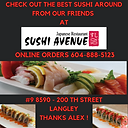 Sushi Avenue Best Sushi In Langley