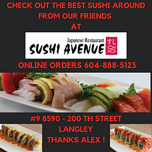 Best Sushi and Japanese Food Langley B.C. 604-888-5123