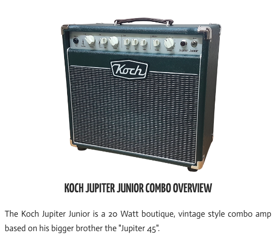 Koch Jupiter 20 Watt Junior Combo