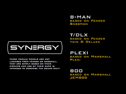Synergy Modules B-MAN, T_DLX, PLEXI, 800,