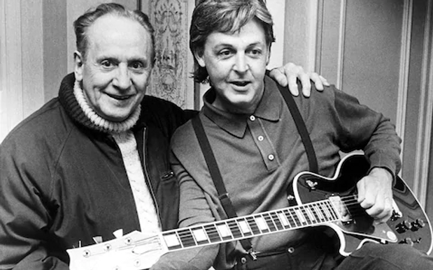 Les Paul and Paul McCartney