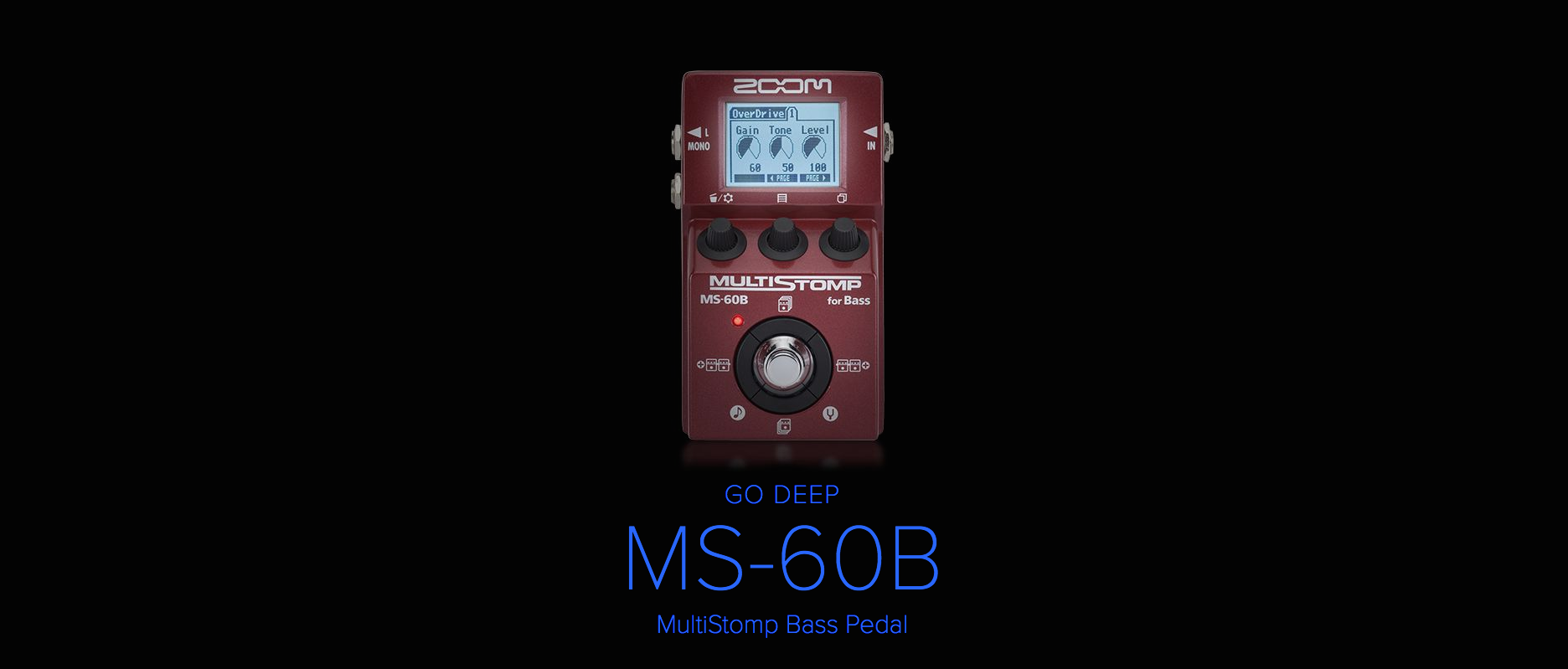Zoom MultiStomp Bass MS-60B