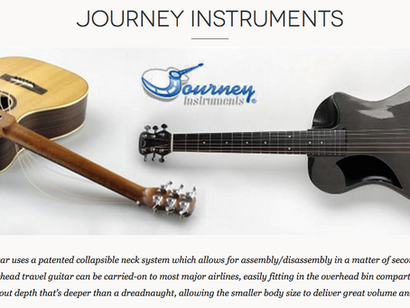 Journey Instruments Best Overhead Collapsible Wood Travel Guitar Model OF410 Demo