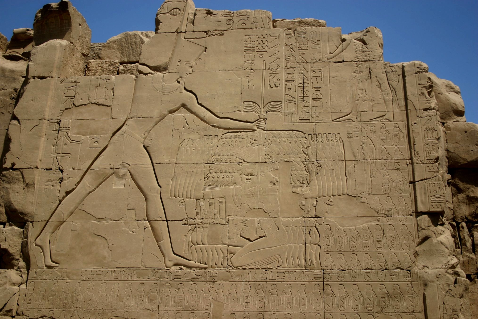 Thutmose III Smiting his Enemies