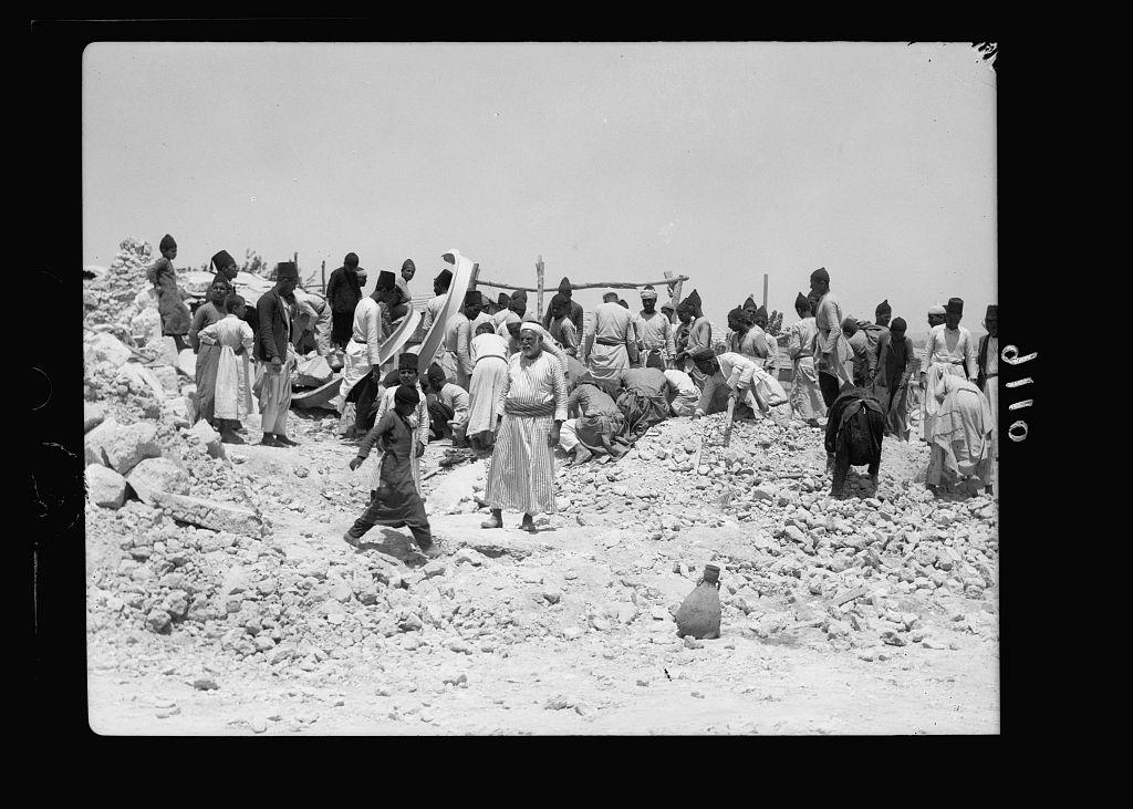 palestine distaubances 1936, house blown