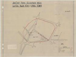 מפת אזור הקברים העתיקים של לוד (מפקח העת