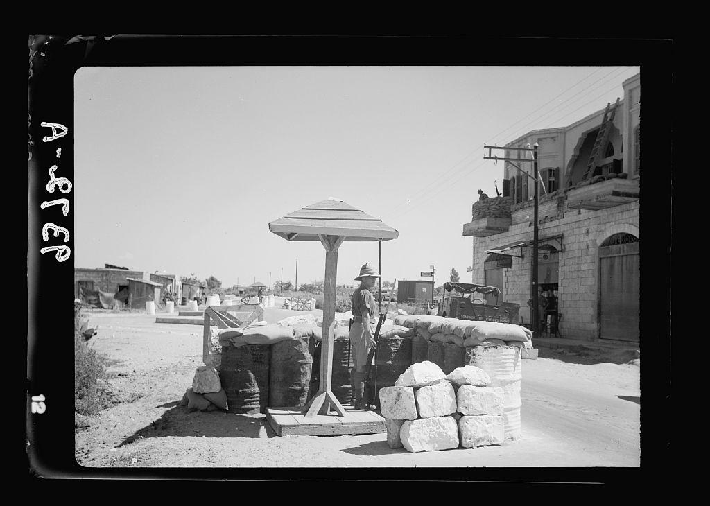 military road block at ramleh - lyyda ju
