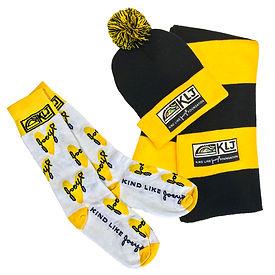 KLJ-Socks-Knit Cap-Scarf