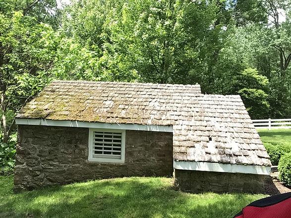 Cedar roofing before