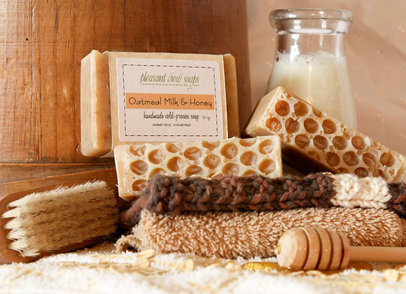Oatmeal Milk & Honey Natural Soap - custom label