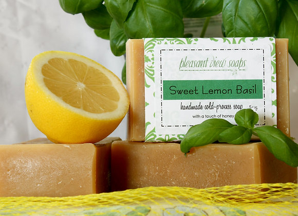 { Sweet Lemon Basil Milk Soap }