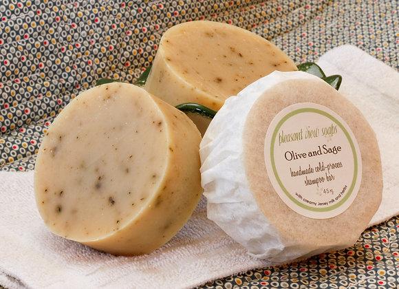 Olive & Sage Shampoo Soap - custom label