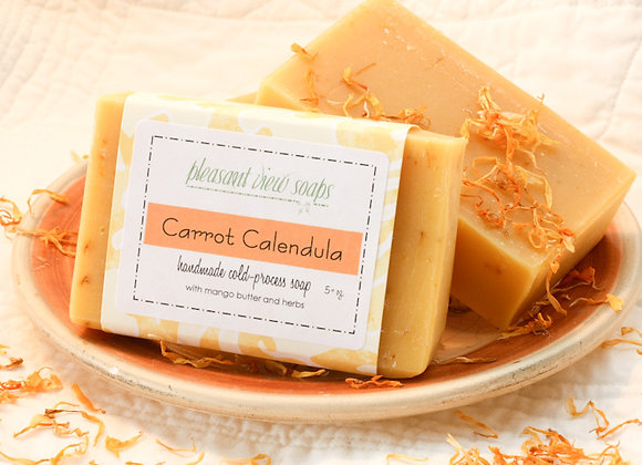 { Carrot Calendula Natural Soap }
