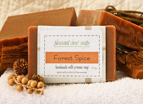 Forest Spice Goat's Milk Soap - custom label