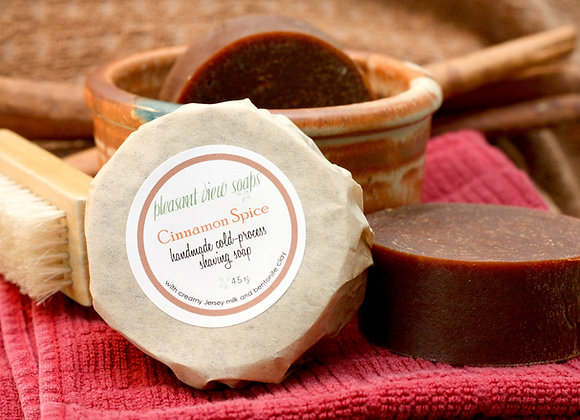 [ Cinnamon Spice Shaving Soap ]