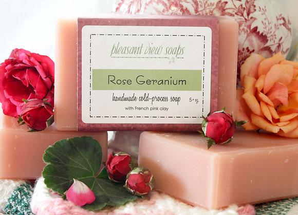 [ Rose Geranium Goat's Milk Soap ]