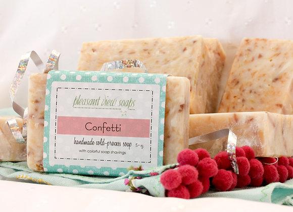 Confetti Goat's Milk Soap - custom label