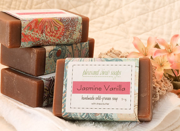 Jasmine Vanilla Goat's Milk Soap - custom label