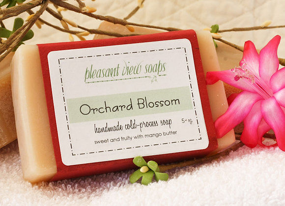Orchard Blossom Goat's Milk Soap - custom label