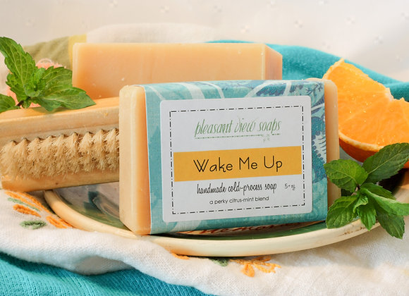 Wake Me Up Goat's Milk Soap - custom label