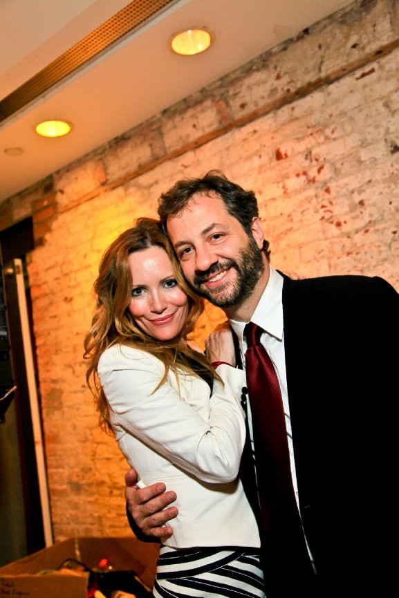 Judd Apatow and Leslie Mann enjoy the 2010 First Amendment Party hosted by IMPACT Arts + Film Fund.