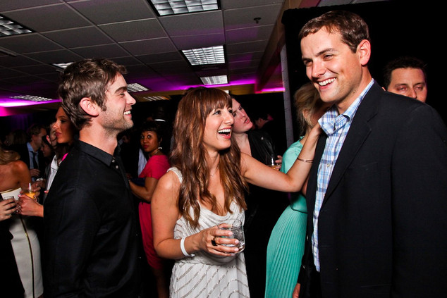 Chace Crawford, SNL's Nasim Pedrad and MSNBC correspondent Luke Russert at the First Amendment Party