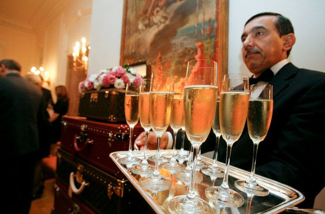 Champagne is served at the ELLE & Louis Vuitton DC Power List Cocktail Hour