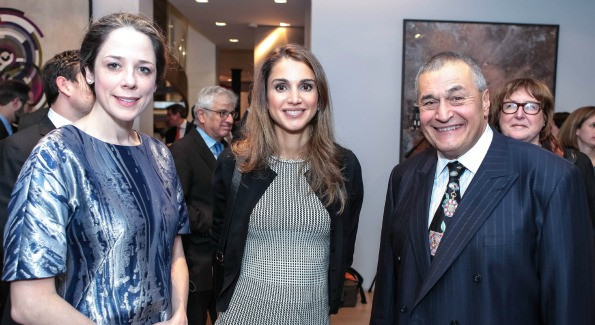 Queen Rania at the 10x10 RECEPTION hosted by Tony and Heather Podesta.