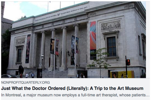 Just What the Doctor Ordered (Literally): A Trip to the Art Museum