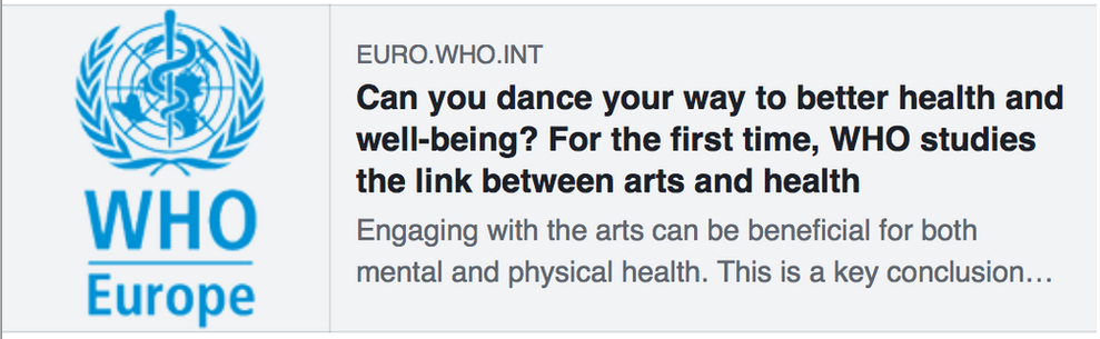 WHO studies the link between arts and health
