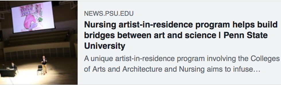 Research into arts and nursing