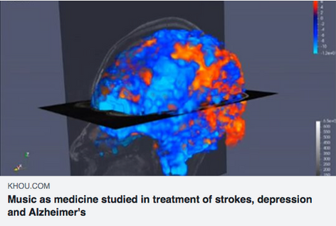 Music as medicine studied in treatment of strokes, depression and Alzheimer's