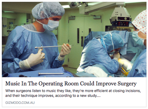 Music Improves Surgery
