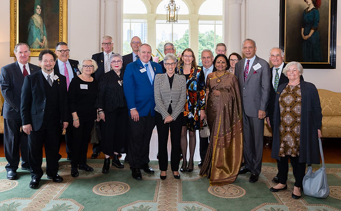 Rotary group shot with the Governor and